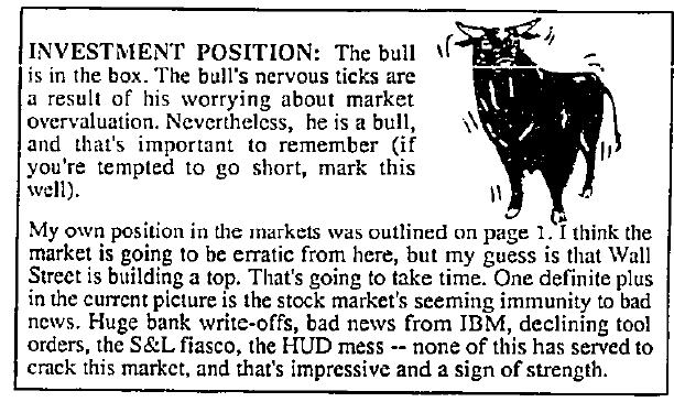 Dow Theory Letters   NEW LOW OBSERVER
